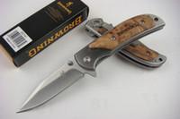 самый маленький коричневый карманный нож оптовых-Специальное предложение Браунинг 338 FA15 Карманный складной нож Открытый поход Туризм Маленький складной нож с оригинальной бумажной коробкой