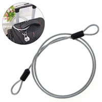 kullanılmış elektrikli bisikletler toptan satış-100 cm Paslanmaz Çelik Bisiklet Kilidi Tel Halat Hattı ile Birden Kullanımları ve Motosiklet için Yüksek Mukavemet / Elektrikli Bisiklet # 81270