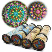Wholesale toys 21cm for sale - Group buy 21cm Blue Yellow Magical Rotate Kaleidoscope Toy Extended Rotation Fancy Colored World Kids Toy X416