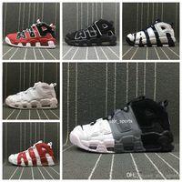 2019 chaussures nike air more uptempo Donna Uomo Scarpe da basket, di alta qualità Tri Color Scottie Pippen PE Triple Bianco Athletic Sport Sneakers