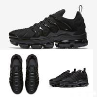 azami artı toptan satış-2018 Toptan Yüksek Kalite Gökkuşağı tam Siyah beyazlık TN erkek Run Spor Ayakkabı Sneakers Koşu Ayakkabıları boyutu 36 hava 45 Nike Air Max TN PLUS Vapormax vapor vm