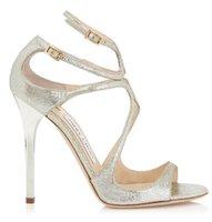 meistverkaufte high heels großhandel-Bestseller Pailletten Schaffell Gladiator Sandalen hohlen neue Mode Damen Party Schuhe Braut High Heels