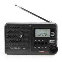 ingrosso sd input-Retekess TR601 Radio tascabile FM / AM / SW Radiosveglia digitale DSP Lettore MP3 9K Sintonia 10K Porta per scheda Micro SD Ingresso USB