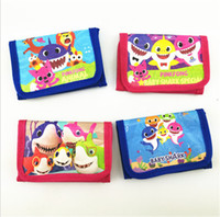 Wholesale boys long wallet for sale - Group buy INS Kids Baby Shark Wallets Cartoon Animal Trifold Wallets Coib Bags Purses Boys Girls Handbag Soft Long Pouch Children Party Gifts B7031