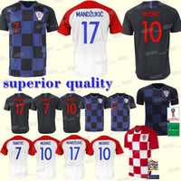 0b28e55e0 MODRIC PERISIC RAKITIC Soccer Jersey MANDZUKIC SRNA KOVACIC Red KALINIC  Hrvatska Football jerseys 2018 World cup