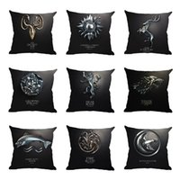 Wholesale black patterned cushions covers for sale - Group buy Black Classical Pillowcases Sofa Bed Seat Multi Patterns Pillow Case Home Furnishing Printing Flax Cushion Covers Creative bh L1