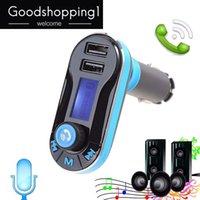 ingrosso doppia radio remota-Hot Bluetooth Car Kit Lettore MP3 Trasmettitore FM Auto Bluetooth AUX Wireless Car Modulator Radio 2.1A Dual USB Car Charger Remote Control