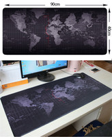 Wholesale mouse gaming pad resale online - portable fold World Map Mouse Pads Gaming Large mousepad Gamer Big Computer Mouse Mat Office Desk Mat Keyboard Pad Mause Pad for Game