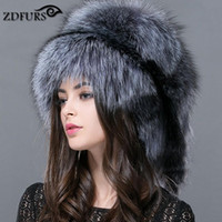 Wholesale men s raccoon hat resale online - ZDFURS Autumn and winter Women s Genuine raccoon dog russian fur hat real fur hat dome mongolian ZDH