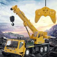 controle remoto para o guindaste venda por atacado-Remote Control Truck guindaste Toy recarregável Remote Control elevação Presentes Simulação guindaste de brinquedo para crianças modelo