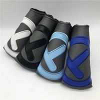runde klinge großhandel-Hochwertige Golf Putter Abdeckung Costom Design Round T Blade Putter Abdeckung mit verschiedenen Farbwahlen