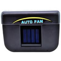 coche refrigerador ventilador auto al por mayor-DHL 20pcs 2v 0.3w Energía solar Automático / Coche Enfriador de aire acondicionado Cooler Fan