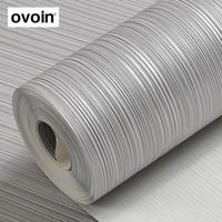 серый бежевый декор оптовых-Metallic Silver Gray текстурированные обои Бежевый фон Stripes Plain Сплошной цвет серый стена рулонной бумаги Home Decor