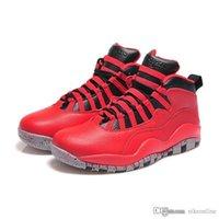 özgürlük basketbol ayakkabıları toptan satış-Orijinal kutusu ile ucuz Erkek Jumpman 10 X basketbol ayakkabıları 10s Bulls Liberty Double Nickel Gölge Orlando Kurt Gri ovo AJ10 spor ayakkabıları botları