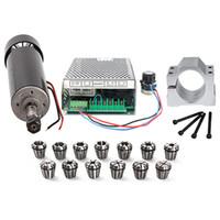 spindelkühlung groihandel-500W Cnc Spindle Luftgekühlte Spindle Motor 500W 100V Stromversorgung / 1Set Er11 Collet für Engraving