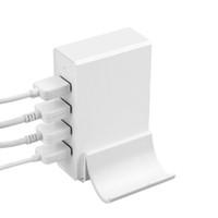 ac çoklu fiş adaptörü toptan satış-4 Port USB Masaüstü Hızlı Duvar Şarj AC Güç Adaptörü Çok fonksiyonlu ABD, AB İNGILTERE Akıllı Fiş