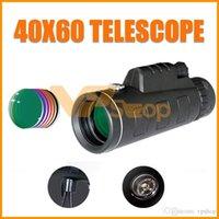 teleskopierendes monokular für die jagd großhandel-40X60 Zoom Monokular Teleskop Teleobjektiv Handy Zielfernrohr Outdoor Jagd Monokulare Zielfernrohre mit dreieckiger Halterung Clip DHL