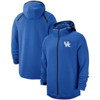 футбольные команды usa оптовых-Спортивные штаны с капюшоном на молнии от Kentucky Wildcats, принимают команды США по футболу, баскетболу, бейсболу, хоккею любого размера