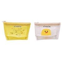 koreanische schlüsselbeutel großhandel-Koreanische Damen Transparente Karikatur Geldbörse Mädchen Reißverschluss Münze Brieftasche Kinder Niedlichen Tier Mini Schlüsselkarte Tasche Für Kinder