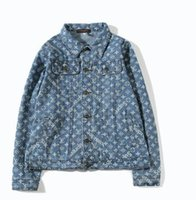 erkekler için moda ceket modası toptan satış-Erkek Kot Ceket Moda Tasarımcısı Ceket Marka Ince Motosiklet Nedensel Erkek Denim Mont Hip Hop Tarzı Denim Ceket kadın