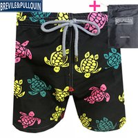 Vilebrequin Mens Beach Shorts beach pants brand 245 octopus starfish Turtle printing Swimwear male board Shorts New style Quick drying
