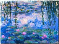 Wholesale pink landscape oil painting for sale - Group buy CLAUDE MONET Water lilies Pink Home Decor Handpainted HD Print Oil Painting On Canvas Wall Art Canvas Pictures