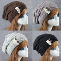 Wholesale cool toys girls for sale - Group buy Fashion Cool Women Girls Hat Solid Color Stretch Knit Hat Messy High Bun Ponytail Beanie Warm Hole Cap Autumn And Winter New