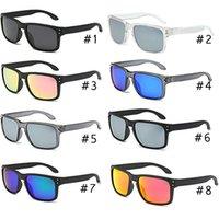 pez espejo al por mayor-2019 de lujo de la marca gafas de sol polarizadas Gafas de sol Hombres Mujeres Surf Pesca gafas de sol gafas de espejo de la lente 8 colores