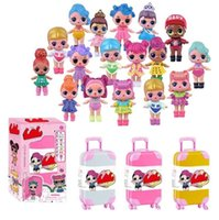Wholesale fashion girl model dress for sale - New LOL Glitter Series Doll Magic Egg Ball Action Figure Toy Kids Girls Funny Dress Up lol Dolls Xmas gifts