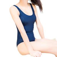 traje de baño sexy japonés al por mayor-Sukumizu Traje de baño japonés Lencería sexy Archivo apretado Entrepierna Bikini Cosplay Sabor Bañarse Traje de baño Ropa interior sexy