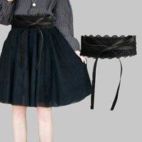 Women Sweet Bow Waist Belt Stretch Silk Elastic Dress Waist Band Wrap Belt Z