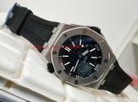 taucher luxus uhr datum großhandel-Luxus Hohe Qualität Armbanduhr N8 Fabrik 42mm Offshore Taucher 15710