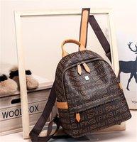 preppy style vintage kadın omuz çantası toptan satış-Tasarımcı Preppy Stil Yeni Moda Kadın Sırt Çantası Pu Deri Retro Kadın Okul çantaları Genç Kız Seyahat Kitapları Sırt Çantası Omuz Çantaları 2