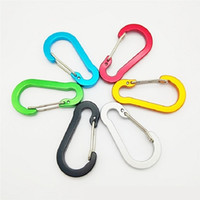 Wholesale snap hooks carabiners for sale - Group buy Flat Shape Carabiner Ring Keyrings Key Chains Sport Carabiner Camp Snap Clip Hook Keychain Hiking Aluminum Convenient Hiking Camping MM
