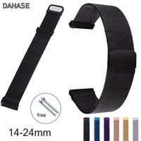Wholesale stainless steel bracelet closures resale online - 14mm mm mm mm mm mm Stainless Steel Milanese Loop Watch Band Magnetic Closure Wrist Strap Metal Replacement Bracelet