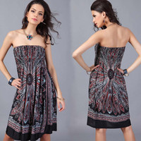 Wholesale women clothing online - Fashion Boho Style Women Casual Dress Summer Loose Beach Mini Swing Dress One Piece Playsuits Bikini Cover Up Womens Clothing Sun Dress