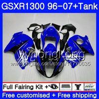 kit de carenado hayabusa azul al por mayor-Hayabusa para SUZUKI GSXR1300 96 97 98 99 00 01 07 Glossy Blue Kit 333HM.149 GSXR 1300 GSXR1300 1996 1997 1998 1999 2000 2001 2007 carenado
