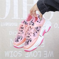 Wholesale women shose resale online - 2019 New Sneakers Women Platform White Sneakers Shoes Casual Breathable Soft Woman Shose Sequin Cloth Zapatillas Mujer PU