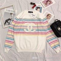ingrosso potenza della signora-19ss primavera nuovo design di marca di lusso multicolor strisce maglione Donna Lady Casual Felpe Streetwear Hoodies Outdoor