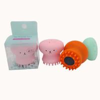 pequena escova venda por atacado-Top Quality Wash Brushes Super Pouco Bonito Octopus Rosto Limpo Massagem Suave Silicone Facial Escova Rosto Cleansers Cravo Mancha Acne