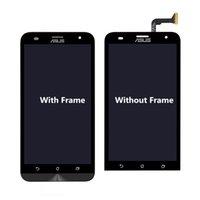 lazer lcd ekranı toptan satış-Asus ZE550KL Orijinal Ekran Siyah LCD Ekran Asus Zenfone 2 Lazer ZE550KL Için Dokunmatik ekran digitizer Meclisi LCD