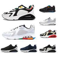 бегущая обувь черный зеленый оптовых-Nike air max 200 shoes airmax Triple Black 200 Mens Running Shoes 200s Bordeaux Blue Desert Sand Royal Pulse Mystic Green Vast Grey men trainers sports Sneakers 40-46