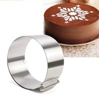 Wholesale disposable mousse for sale - Group buy Disposable Round Eco Friendly Adjustable Stainless Steel Circle Mousse Ring inch Baking Tool For Birthday Cake Party