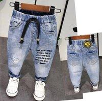 ingrosso jeans pant ragazzo nuovi stili-New Spring Autunno Style Baby Boy Jeans Pantaloni 2-6 anni Età Bambini Ragazzi Jeans denim Ragazzi Pantaloni in puro cotone di alta qualità 2-6 anni