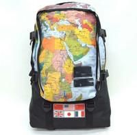 çanta haritası kadın toptan satış-Erkekler ve kadınlar harita desen sırt çantası seyahat yürüyüş sırt çantası iş rahat sırt çantası öğrenci çantası toptan