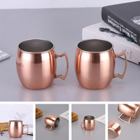 Wholesale new art heading online - New creative water cup thick stainless steel hammer head plating cup cocktail glass home cup T8I028