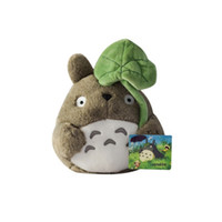 anime malzeme ücretsiz gönderim toptan satış-Mini kawaii Komşum Totoro Hayao Miyazaki karikatür peluş oyuncaklar dolması bebek çocuk kız çocuk brinquedos anime ücretsiz nakliye rakamlar