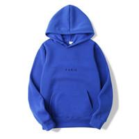 asyal hoodies toptan satış-Kapüşonlular Erkekler ve Kadınlar Tasarımcı Kapüşonlular Sıcak Erkek Giyim Asya Boyut S-3XL 20 Renk Tops Sonbahar Uzun Kollu Kazak Casual Sat
