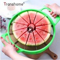 cantaloupe slicer großhandel-2019 New Watermelon Slicer Cutter Edelstahl Große geschnittene Wassermelone Cantaloupe Slicer Fruit Divider Küchenhelfer