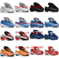 sapatas do futebol dos homens venda por atacado-2019 sapatos de futebol homens Superfly 7 Elite SE FG botas de futebol grampos do futebol CR7 neymar Mercuriais Os vapores 13 Elite FG